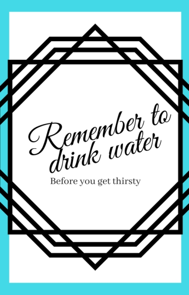 Remember to drink